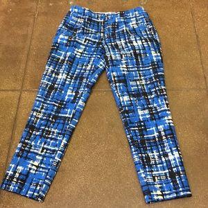 J Crew beautiful tricolor pleated pants